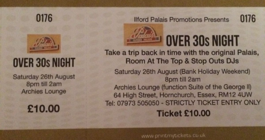 THE ILFORD PALAIS OVER 30S NIGHT