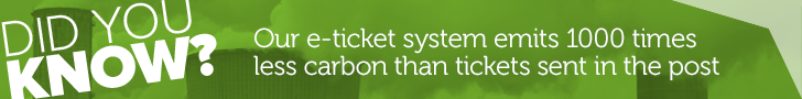 Our e-ticket systems emits 1000 times less carbon than postal tickets